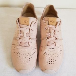 Ugg Treadlite Pink Nubuck Leather Sneakers